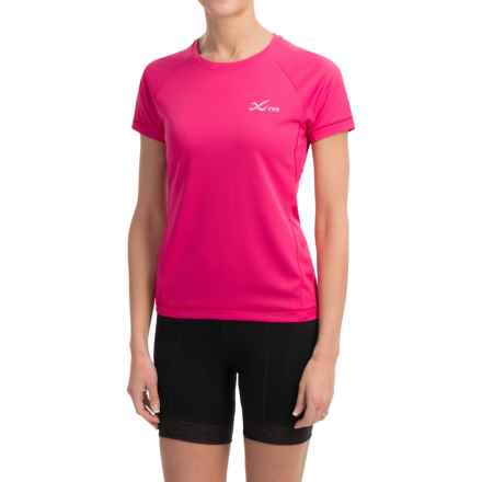 CW-X Ventilator Mesh Shirt - UPF 35+, Short Sleeve (For Women) in Pink - Closeouts