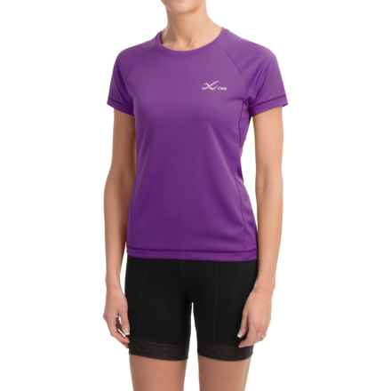 CW-X Ventilator Mesh Shirt - UPF 35+, Short Sleeve (For Women) in Purple - Closeouts