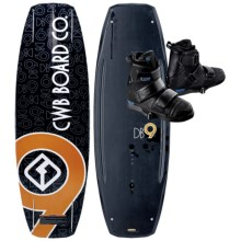 CWB Board Co. DB9 Wakeboard - AA Bindings in 138 Graphic - Closeouts