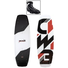 CWB Board Co. Faction Wakeboard - G6 Bindings in 138 Graphic - Closeouts