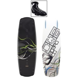 CWB Board Co. Saber Wakeboard - G6 Bindings in 139 Graphic