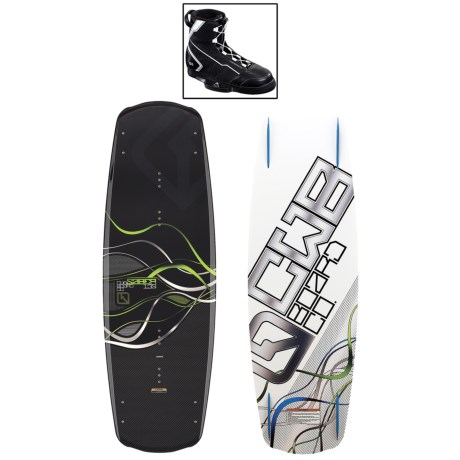 CWB Board Co. Saber Wakeboard - G6 Bindings in 145 Graphic