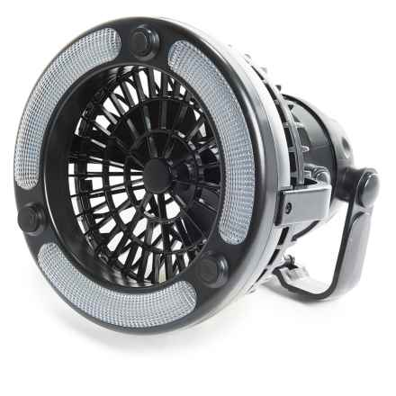 Cyclops 18-LED Light and Fan in Black - Closeouts