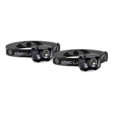Cyclops Headlamp Kit - 2-Pack, 210 Lumen in Black - Closeouts