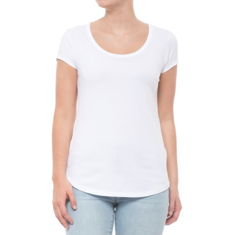 Cynthia Rowley 1x1 Scoop Shirttail T-Shirt - Short Sleeve (For Women) in White
