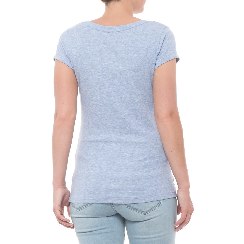 fcfe145e0f77 Cynthia Rowley 1x1 Scoop Straight-Hem T-Shirt - Short Sleeve (For Women)
