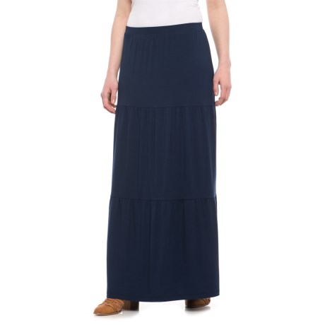 Cynthia Rowley 3-Tiered Solid Maxi Skirt (For Women)