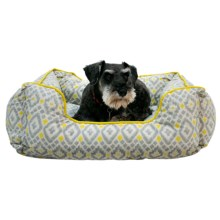 "Cynthia Rowley Aztec Lounger Dog Bed - 28x22"" in Yellow - Closeouts"