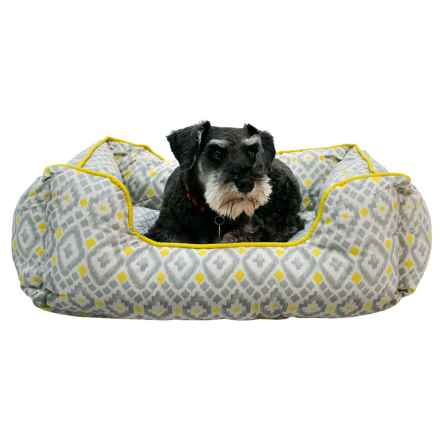"""Cynthia Rowley Aztec Lounger Dog Bed - 28x22"""" in Yellow - Closeouts"""