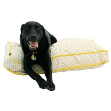 "Cynthia Rowley Aztec Rectangle Dog Bed - 27x36"" in Yellow - Closeouts"