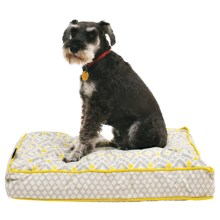 "Cynthia Rowley Aztec Rectangle Dog Bed - 28x19"" in Yellow - Closeouts"