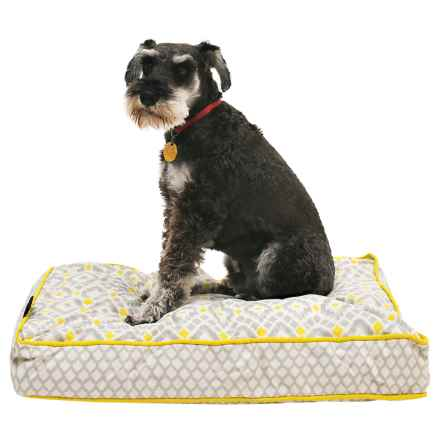 """Cynthia Rowley Aztec Rectangle Dog Bed - 28x19"""" in Yellow - Closeouts"""