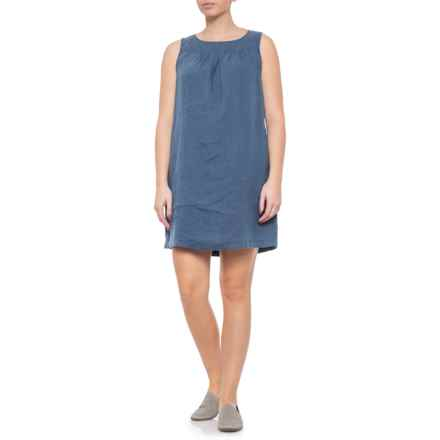 265bb98923 Cynthia Rowley Blue Shorts Boat Neck Linen Dress - Sleeveless (For Women)  in Blue