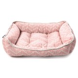 "Cynthia Rowley Caravan Geo Chevron Cuddler Dog Bed - 24x19"", Reversible"
