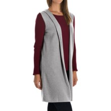 Cynthia Rowley Cashmere Cardigan Vest - Hooded (For Women) in Flint - Closeouts