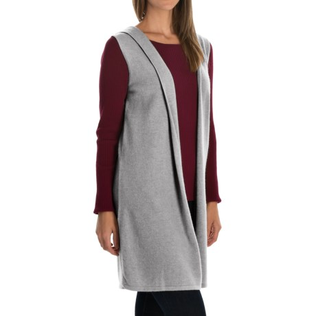 Cynthia Rowley Cashmere Cardigan Vest - Hooded (For Women)