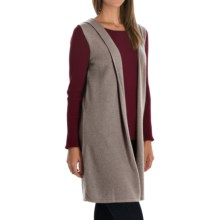 Cynthia Rowley Cashmere Cardigan Vest - Hooded (For Women) in Hemp - Closeouts