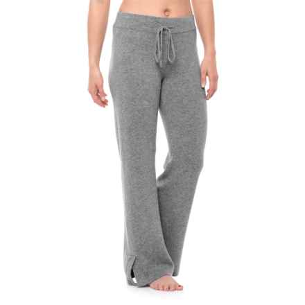 Cynthia Rowley Cashmere Drawstring Pajama Pants (For Women) in Smog Heather - Closeouts