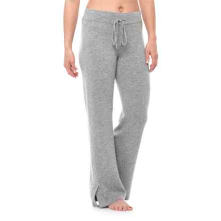 Cynthia Rowley Cashmere Drawstring Pajama Pants (For Women) in Steeple Grey Heather - Closeouts