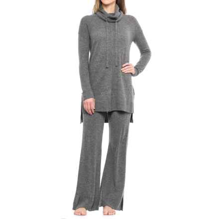 Cynthia Rowley Cashmere Sweater and Pants Lounge Set - Funnel Neck (For Women) in New Smog Heather - Closeouts