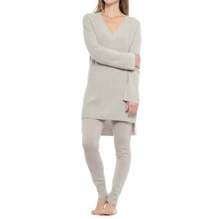 Cynthia Rowley Cashmere Tunic Sweater and Joggers Lounge Set (For Women) in Agate Heather - Closeouts