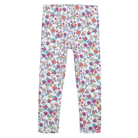 Cynthia Rowley Cat Floral Leggings (For Big and Little Girls) in Bright White - Closeouts