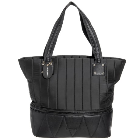 7d83a5631af7 Cynthia Rowley Channel Quilt Expandable Tote Bag (For Women) in Black Grey