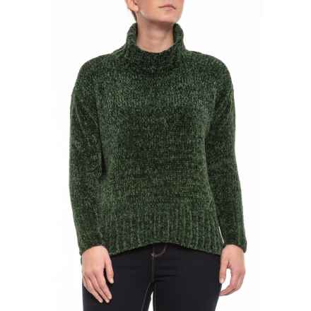 Cynthia Rowley Chenille Turtleneck Sweater (For Women) in Dark Moss - Closeouts