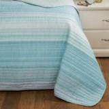 Cynthia Rowley Coastal Stripe Quilt - Full-Queen