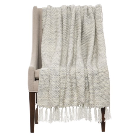 """Cynthia Rowley Como Throw Blanket - 50x60"""" in Taupe"""