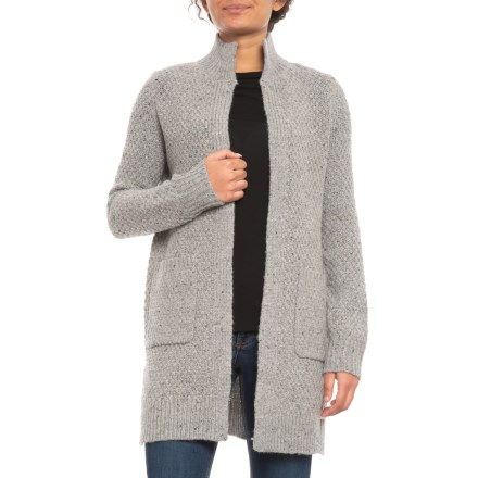 39dbf60b9b02 Cynthia Rowley Donegal Cardigan Sweater - Open Front (For Women) in Light  Mist Donegal