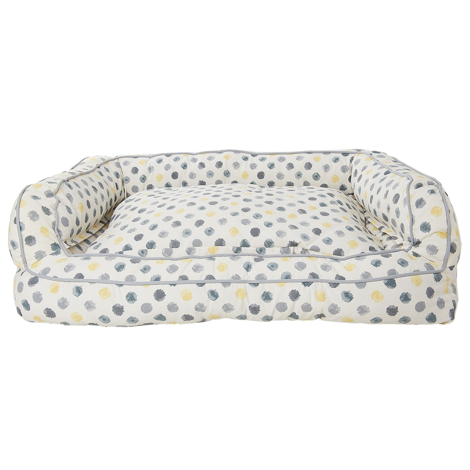 cynthia rowley dot canvas rectangle couch bolster dog bed xxl 43x29u201d