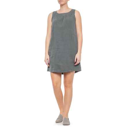 dc82e4a46b6 Cynthia Rowley Dusty Pine Boat Neck Linen Dress - Sleeveless (For Women) in  Dusty