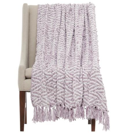 """Cynthia Rowley Elda Throw Blanket - 50x60"""" in Fog"""