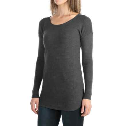 Cynthia Rowley Extra-Fine Merino Wool Sweater (For Women) in Charcoal Heather - Closeouts