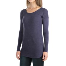 Cynthia Rowley Extra-Fine Merino Wool Sweater (For Women) in Dark Denim Heather - Closeouts