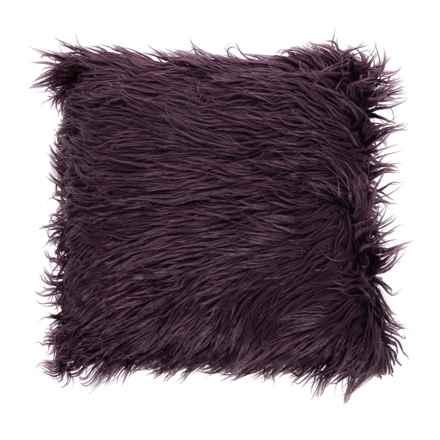 "Cynthia Rowley Faux-Fur Decor Pillow - 20x20"" in Plum - Closeouts"