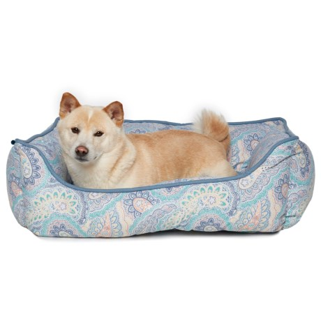 "Cynthia Rowley Feberge Paisley Dog Bed - 22x28"" in Multi"