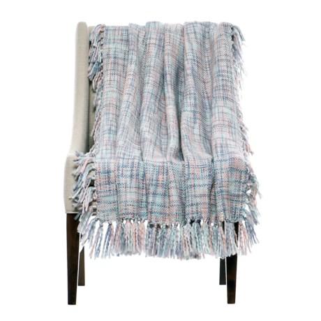 """Cynthia Rowley Lagos Throw Blanket - 50x60"""" in Mist"""