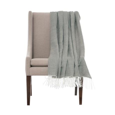 "Cynthia Rowley Lare Waffle-Knit Throw Blanket - 50x60"" in Charcoal Grey"
