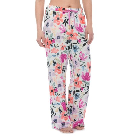 Cynthia Rowley Maggie Pajama Pants - Wide Leg (For Women) in Bright