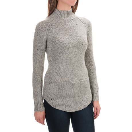 Cynthia Rowley Mock Neck Donegal Sweater (For Women)