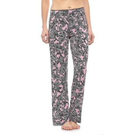 Cynthia Rowley Picot Pajama Pants (For Women) in Pink