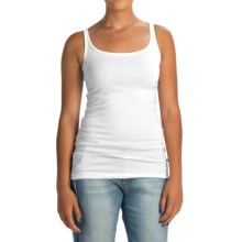 Cynthia Rowley Pima Cotton-Modal Tank Top (For Women) in White - Closeouts