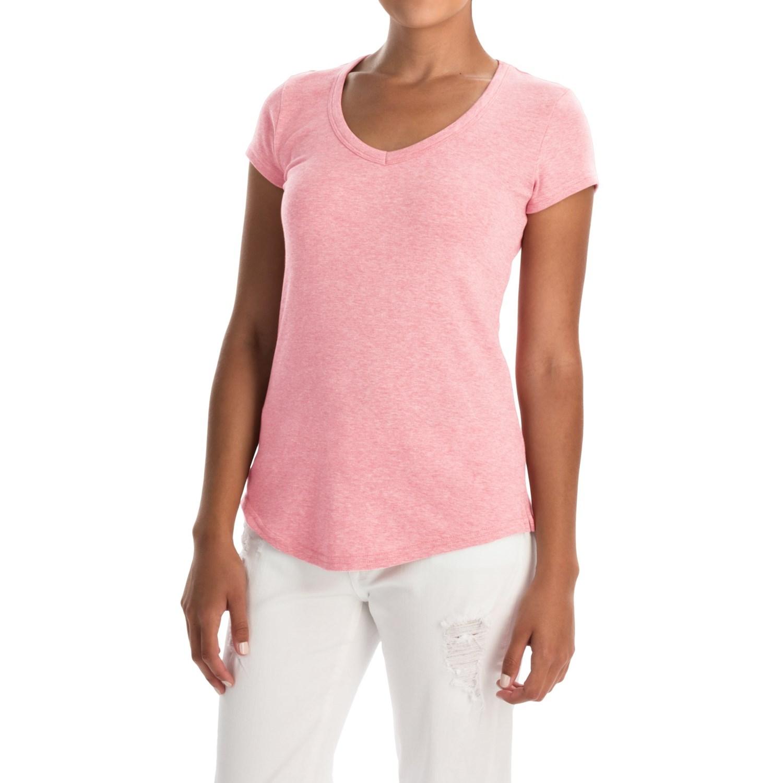 Cynthia rowley pima cotton modal v neck t shirt for women for V neck shirt for women