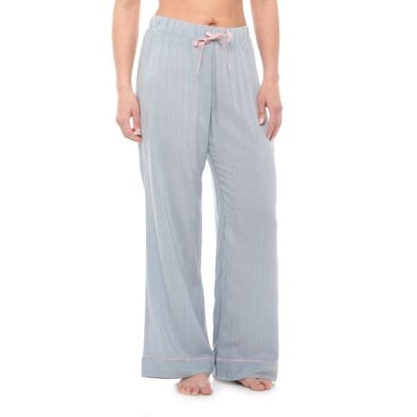 Cynthia Rowley Pinstripe Challis Pajama Pants - Wide Leg (For Women) in Grey
