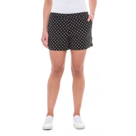 Cynthia Rowley Printed Sateen Shorts (For Women) in Black White Combo