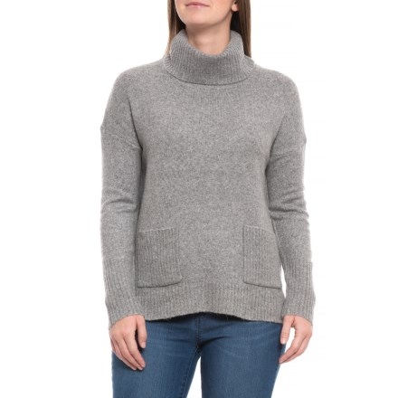 122e7fdb6f9279 Clearance. Cynthia Rowley Pullover High-Low Sweater (For Women) in Steeple  Grey Heather -