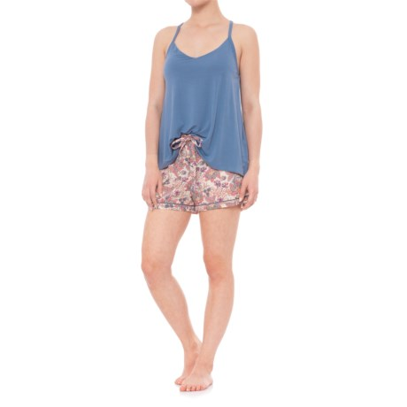 Cynthia Rowley Racerback Solid Sleep Set - Sleeveless (For Women) in Navy/Bright