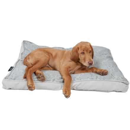 """Cynthia Rowley Rhode Medallion Rectangle Dog Bed - Large, 36x27"""" in Neutral - Closeouts"""